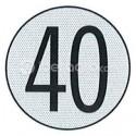 Disco limitación velocidad 40 Km/h