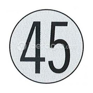 Disco limitación velocidad 45 Km/h