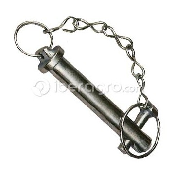 Bulón con cadena y pasador 25x120 mm