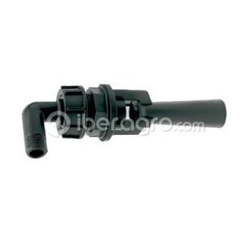 Agitador hidráulico inspeccionable con codo