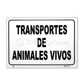 Placa señalización transporte de animales