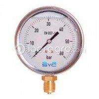 Manómetro glicerina 63 mm 0-60 bar