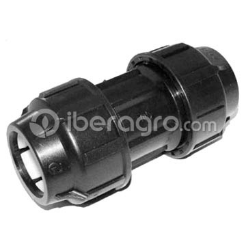 Enlace recto goteo 63 mm