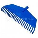 Rastrillo plástico recto azul
