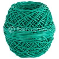 Macarrón ovillo PVC verde 3,5 mm verde