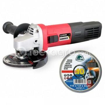 Amoladora angular Stayer SAB 800 CR + discos