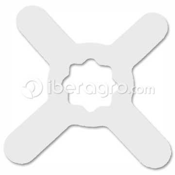 Goma estrella peladora pistacho RVE-045C blanca
