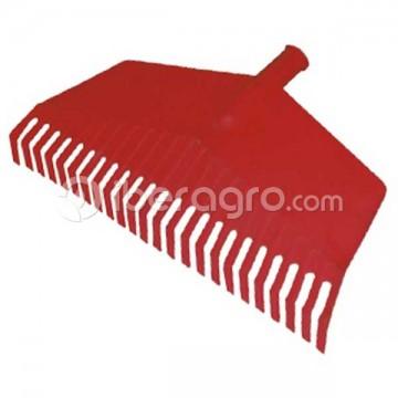 Rastrillo de plástico cerrado rojo