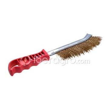 Cepillo alambre acero latonado