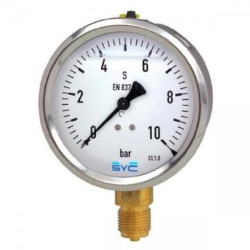 Manómetro glicerina 63 mm 0-10 bar
