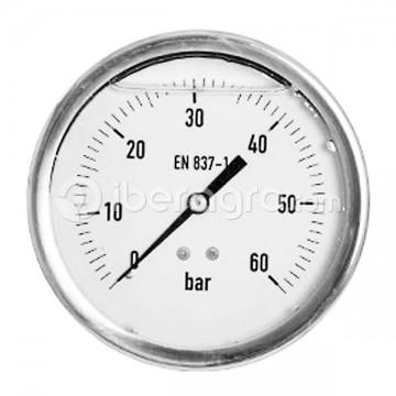Manómetro glicerina inox. 100 mm 0-60 bar